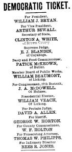 Chicago Platform 1896