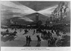 New Orleans Levee at Night 1883