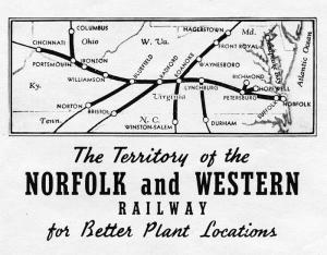 Norfolk and Western Railway Map