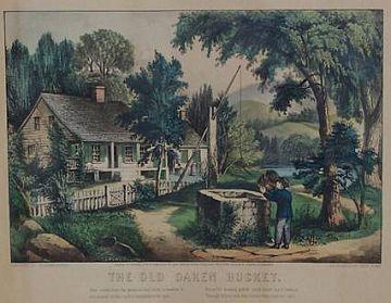 The Old Oaken Bucket, Currier & Ives, 1872