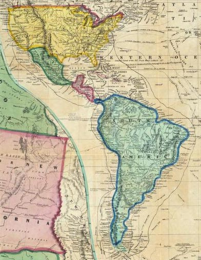 the california gold rush map. Sailing to California for GOLD
