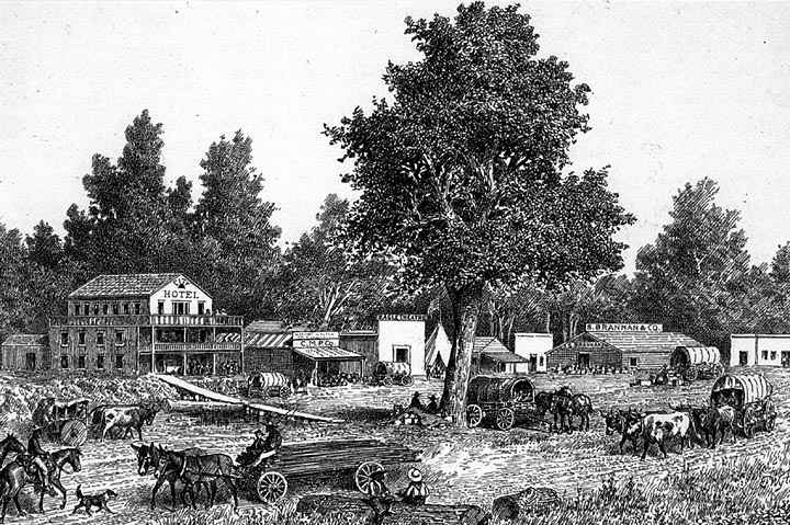 gold rush 1849 images. Sacramento City 1849 (image