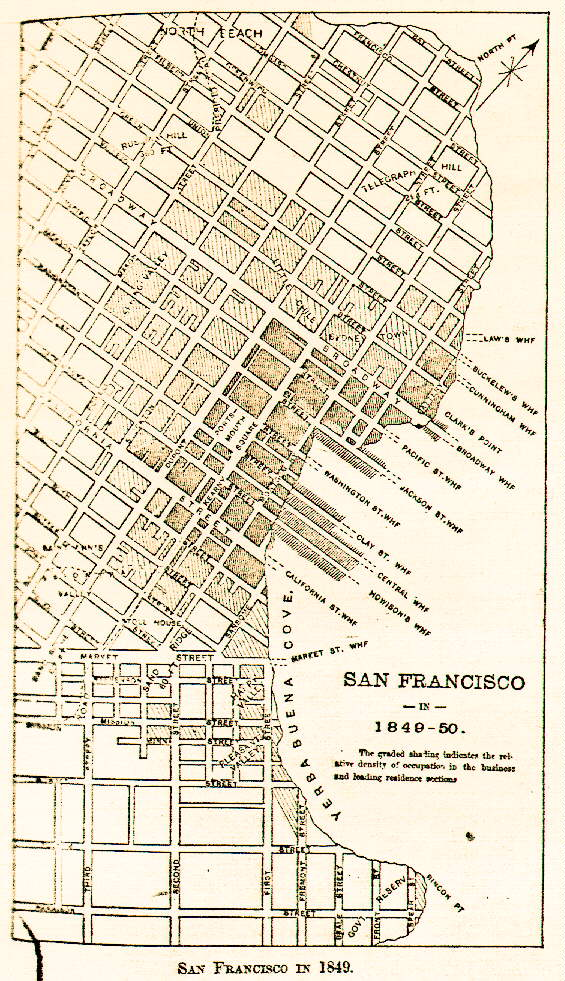 california gold rush map. of the map: HERE
