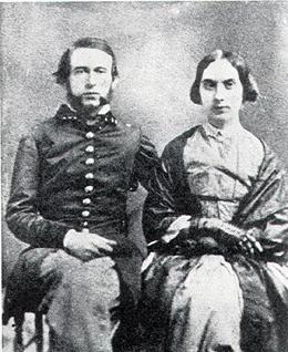 Lieut. Slaughter and Wife (Image from www.historylink.org)
