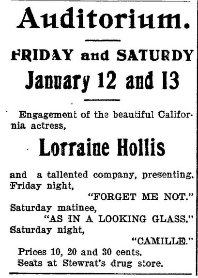 Lorraine Hollis advert 1900 copy