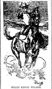 Helen Kinau Wilder pic horse gun 1899