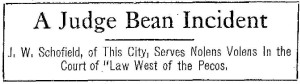 Judge Bean Incident heading1911
