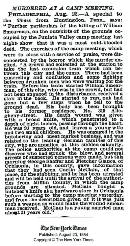 Smearman murdered NYT aug 22 1884 copy