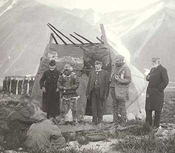 Men Bartering With Eskimos