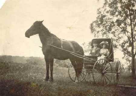 Horse and Buggy Couple (Image from www.familyoldphotos.com)