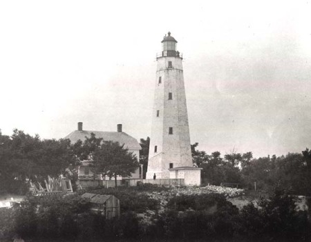 Sandy Hook Lighthouse (Image from www.lighthousehistory.info)