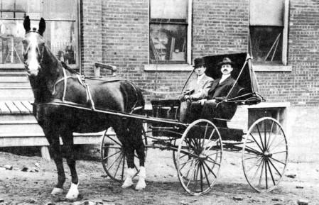 men in buggy