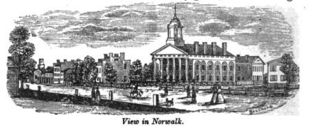 View of Norwalk, Ohio - 1840's