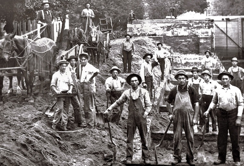 Image result for panama canal construction workers