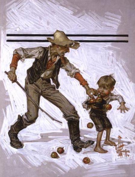 [Image: the-little-thief-farmer-catching-boy-ste...e-post.jpg]