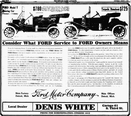 Henry Ford Model t Advertisement Henry Ford's Model t