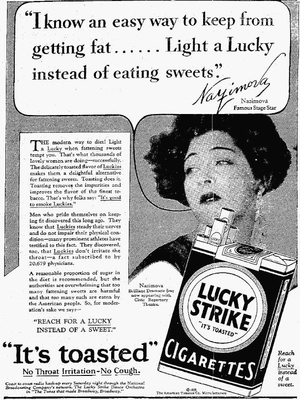 cigarette advertisements yesteryear once more