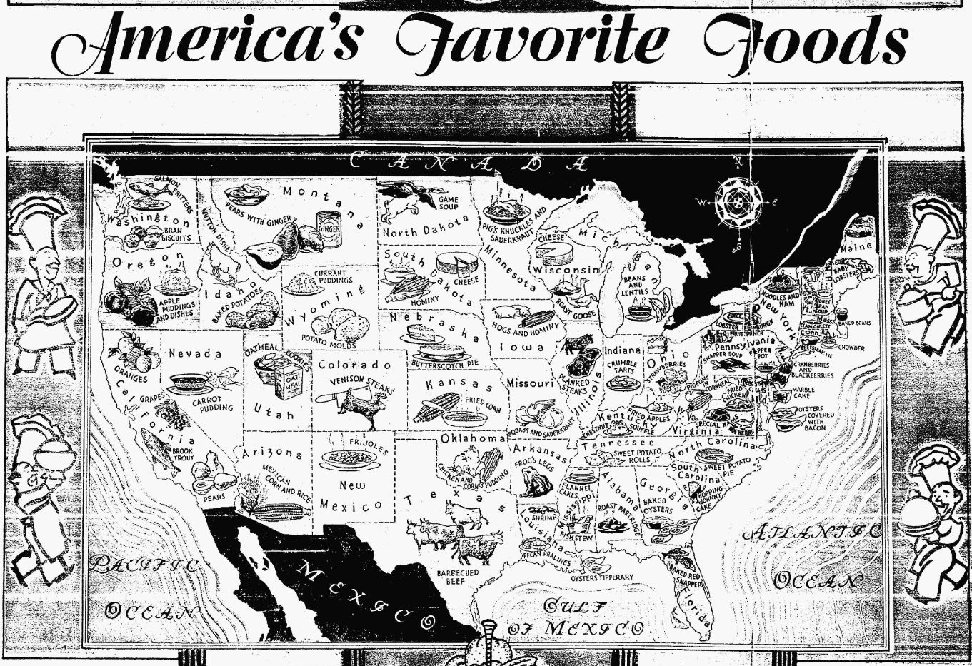 Food map yesteryear once more every state sciox Gallery