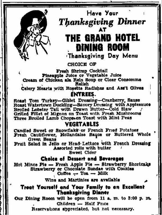 thanksgiving hotel specials in new york city