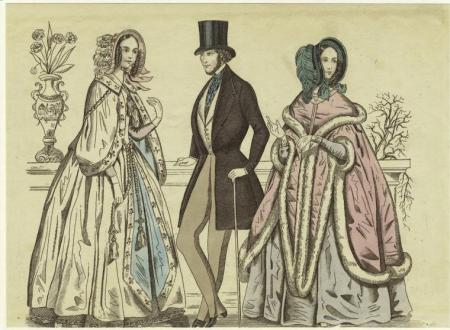 1840s fashion men women yesteryear once more