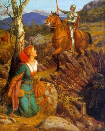 arthur hughes - inspired by Tennyson's Gareth and Lynette