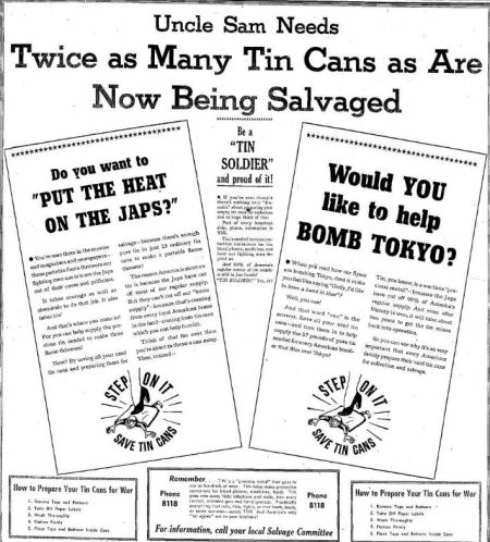 Be a Tin Soldier - Billings Gazette MT 08 Jul 1945