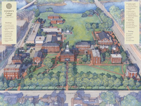 St Johns Campus Map.Campus Map St John S College Md Yesteryear Once More