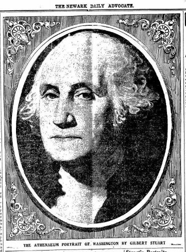 George Washington potrait - The Newark Advocate OH 22 FEb 1904