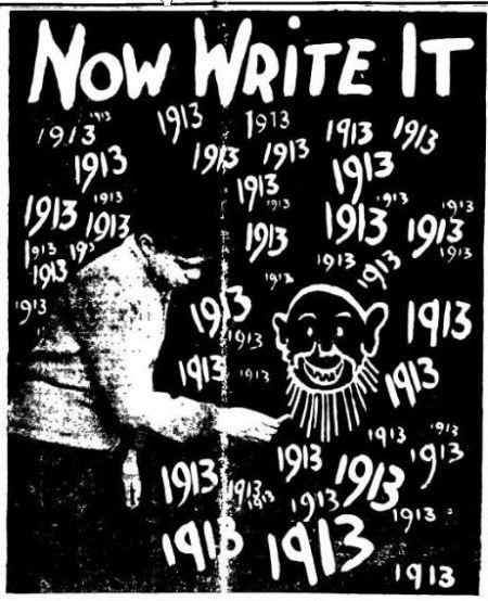 Happy New Year - Newark Advocate OH 01 Jan 1913