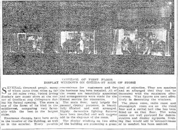 Irving Zuelke - new store 2 - Appleton Post Crescent WI 18 Dec 1924