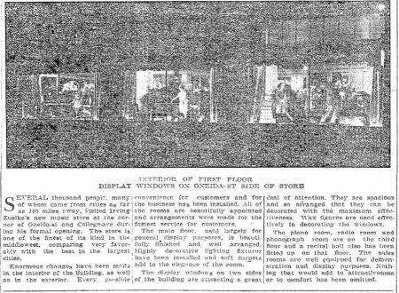 Irving Zuelke - new store 2 - Appleton Post Crescent WI 18 Dec 1924