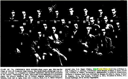 L Travis White - Class of 1911 - Frederick MD - The Frederick Post MD 15 Dec 1971