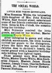 Littleton Travis White – Roxanna's Party – The News – Frederick MD 17 Dec1901