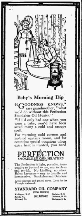 Oil Heater - Perfection - The Frederick Post MD 12 Dec 1914