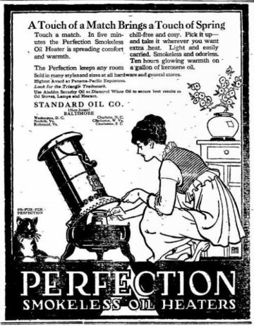 Oil Heater - Perfection - The Frederick Post MD 18 Dec 1915