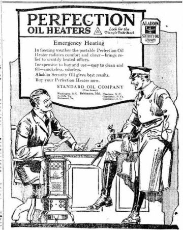 Oil Heater - Perfection - The Frederick Post MD 18 Dec 1918