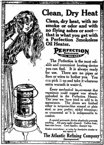 Oil Heater - Perfection - The Gettysburg Times PA 09 Dec 1911