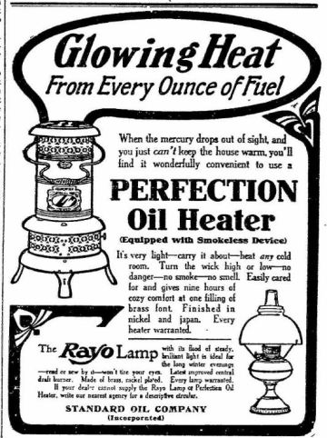 Oil Heater - Perfection - The News - Frederick MD 24 Dec 1907