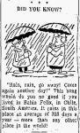 Rain – Chile – Troy Record NY 17 Dec1962