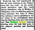 Roxanna White – Charcoal Drawing – The Frederick Post MD 15 Oct 1917