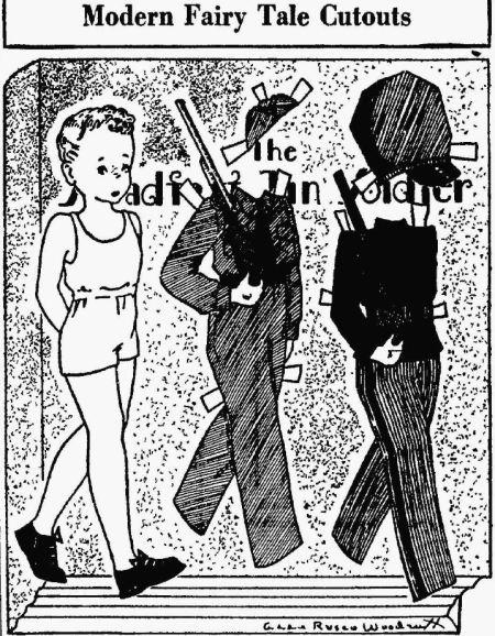 Tin Soldier Cut-Outs - Edwardsville Intelligencer IL 06 Dec 1941