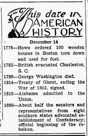 Today in History - GW - Sheboygan Press WI 14 Dec 1928