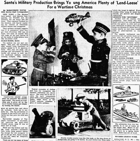 Wartime Christmas - Reno Evening Gazette NV - 16 Nov 1942